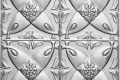 Camellia Pattern Pressed Metal Ceiling Panel