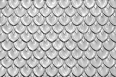 Fishscales Pressed Metal Ceiling Panel