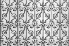 Vines Pressed Metal Ceiling Panel (wall panel, fixed vertically)